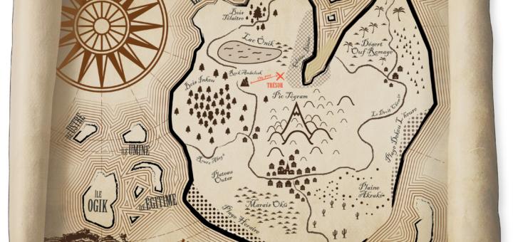 Carte de l'Île Uzion